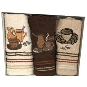 Set 3 prosoape bucatarie PRC25 Cafea III 30x50cm bumbac