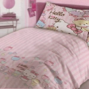 Lenjerie de pat Disney Hello Kitty LC06 160x200cm (Bumbac)