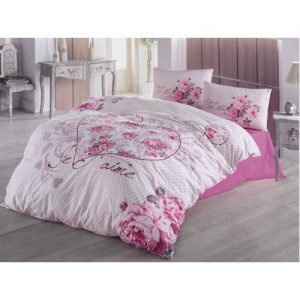 Lenjerie bumbac 3 piese Je T'aime Pink PP1198