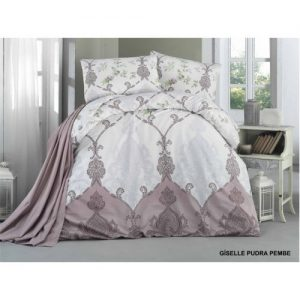 Lenjerie bumbac 3 piese Giselle Pudra Pembe PP1197