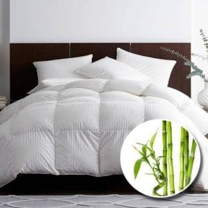 Pilota premium bambus matlasata alb