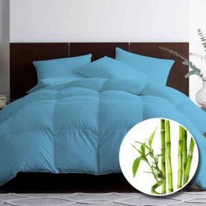 Pilota premium bambus matlasata albastru