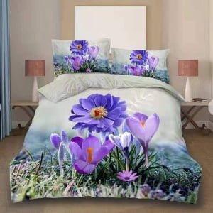 Lenjerie Digital PrintDP61 Blue Flowers