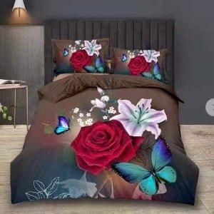Lenjerie Digital PrintDP51 Roses-Brown