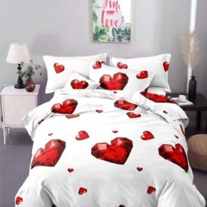 Lenjerie de pat Cocolino set CCL70 Red Hearts